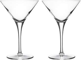 Ravenhead Diamond Crystal Martini Glasses - Set of 2
