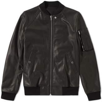 Rick Owens Raglan Leather Bomber Jacket