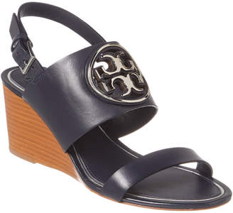 Tory Burch Metal Miller 65Mm Leather Wedge Sandal