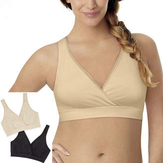 Playtex 2-Pack Wireless Sleep Nursing Bra-Us02pk