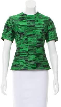 Calvin Klein Collection Jacquard Short Sleeve Top
