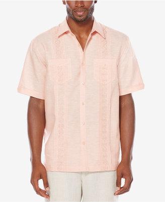 Cubavera Men's Big & Tall Linen Blend Embroidered Pintuck Shirt $80 thestylecure.com