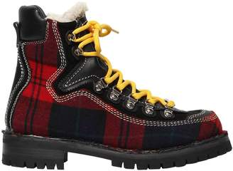 DSQUARED2 40mm Canada Plaid Hiking Boots
