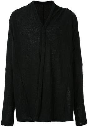 Julius loose fit V-neck sweatshirt