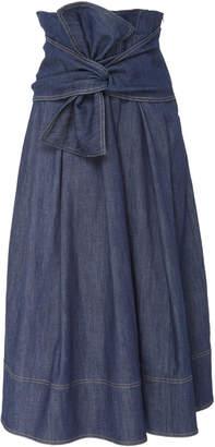 Ulla Johnson Virgil Tie-Front Denim Skirt