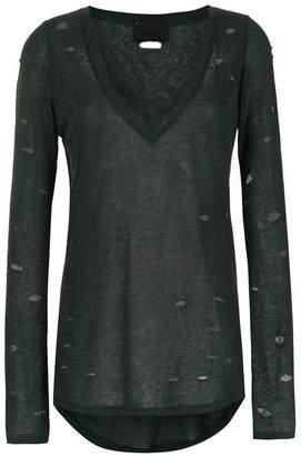 Andrea Bogosian destroyed long sleeved blouse