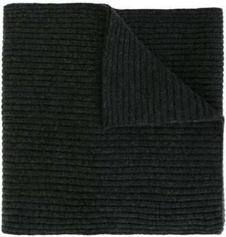N.Peal ribbed scarf