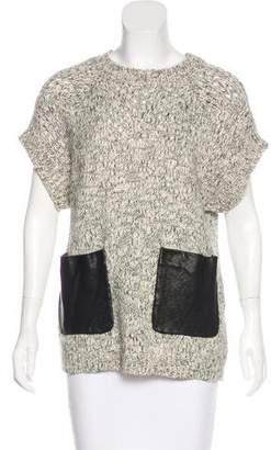 Thakoon Short Sleeve Crew Neck Sweater