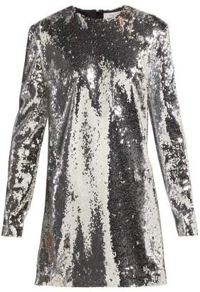 ara Racil Sequinned Mini Dress - Womens - Silver