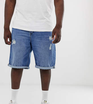 ONLY & SONS denim shorts in mid wash