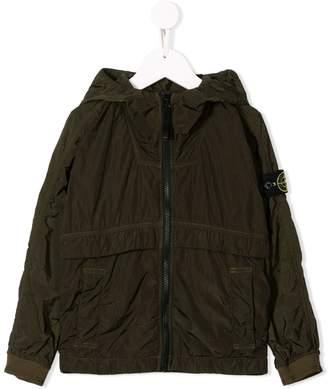 Stone Island Junior structured rain jacket