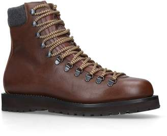 Brunello Cucinelli Leather Hiking Boots