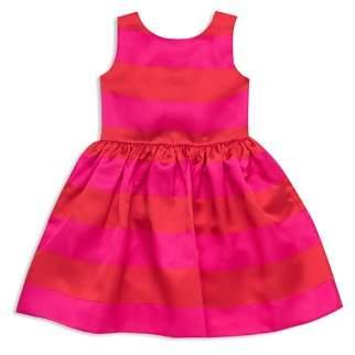 Kate Spade Girls' Striped Satin Carolyn Dress - Big Kid