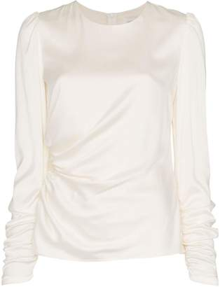 Zimmermann draped silk bodice top