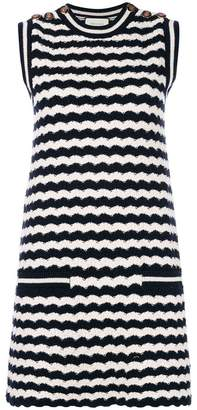 Gucci striped knit sleeveless dress