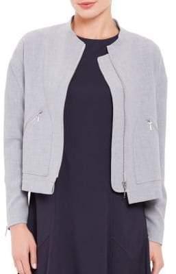 Ellen Tracy Petite Zippered Cropped Jacket