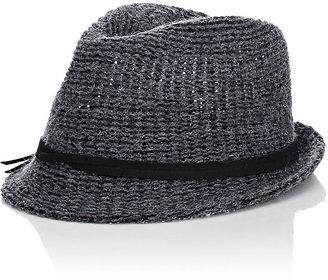 Hat Attack HAT ATTACK WOMEN'S KNIT SHORT-BRIM FEDORA $89 thestylecure.com