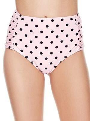 Betsey Johnson High Waist Polka Dot Bikini Bottoms