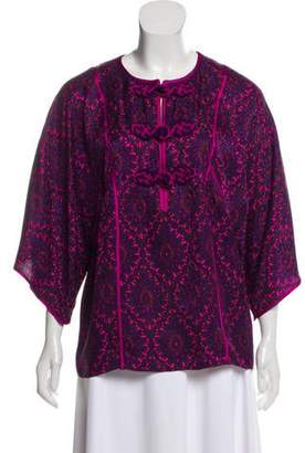 Andrew Gn Printed Silk Top