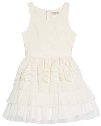 Nanette Lepore Tiered Lace & Tulle Dress