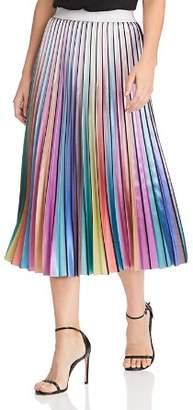 Lucy Paris Rainbow Pleated Midi Skirt