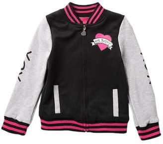 Betsey Johnson Ponte Fleece Bomber Jacket (Big Girls)