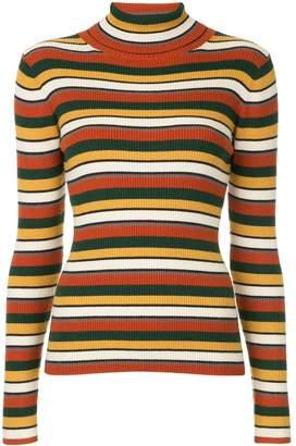 GUILD PRIME striped roll neck jumper