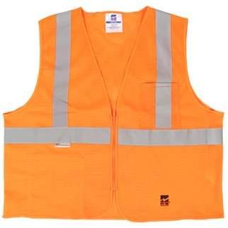 Viking Big Men's Mesh Zipper Safety Vest, Pack of 25