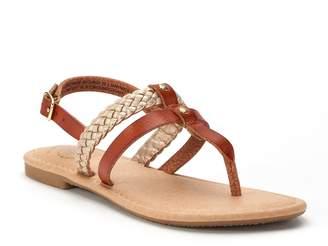 So SO Raw Edge Braid Girls' Sandals