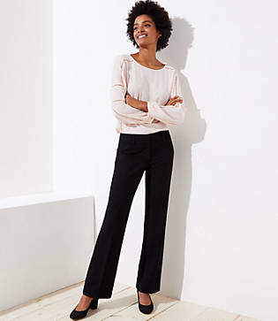 LOFT Petite Trousers in Doubleweave in Marisa Fit