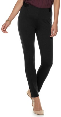 JLO by Jennifer Lopez Women's Seamed MidRise Ponte Leggings