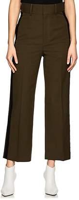 Helmut Lang Women's Piqué-Weave Flat-Front Trousers