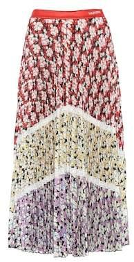 Valentino Pleated floral midi skirt