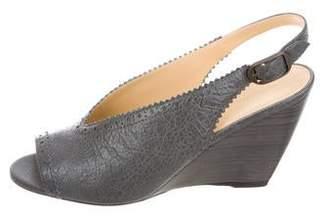 Balenciaga Leather Peep-Toe Slingback Pumps w/ Tags