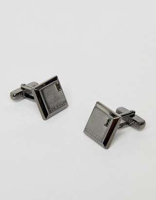 Ted Baker golcuff square cufflinks in gunmetal