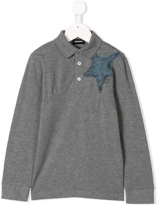 Diesel denim star polo shirt