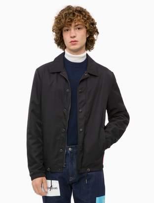 Calvin Klein stacked logo coach jacket