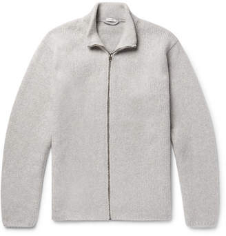 Ten C Wool-Blend Zip-Up Cardigan