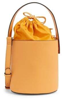 SFW Structured Leather Bucket Bag
