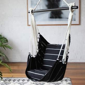 Black & White NOosa Cotton Hammock Chair Swing