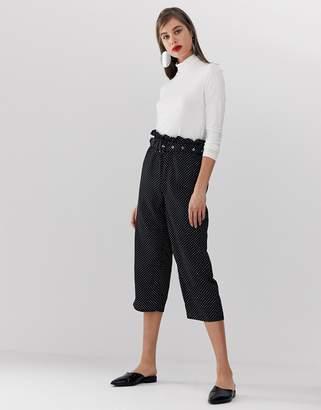 UNIQUE21 polka dot pant with belt
