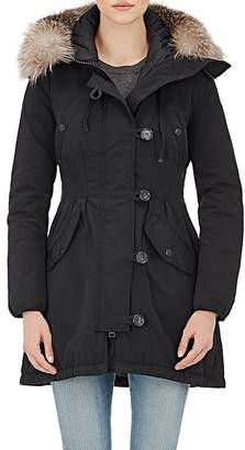 Moncler Women's Fur-Trimmed Down Aredhel Coat $2,180 thestylecure.com