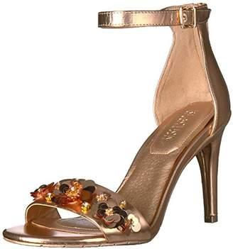 Kenneth Cole Reaction Women's Smash Dance Two Piece Open Toe Dress Sandal Stiletto Heel Flower Ornamentation