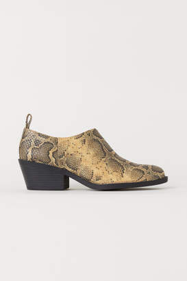H&M Snakeskin-patterned Boots - Orange