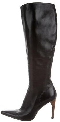 GucciGucci Leather Knee-High Boots