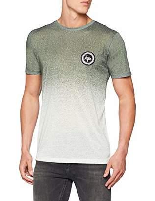 Hype Men's Speckle Fade T-Shirt, (Verde Khaki), X-Small