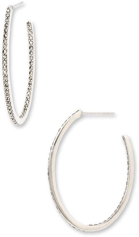 Judith Jack 'Inside Out' Small Hoop Earrings
