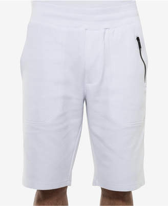 """Sean John Men's Classic-Fit Ottoman-Knit 11"""" White Party Shorts, Created for Macy's"""