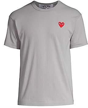 Comme des Garcons Men's Small Heart Logo Tee