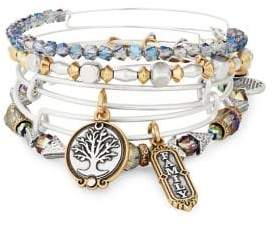 Alex and Ani Set of Five Family Bangle Bracelets